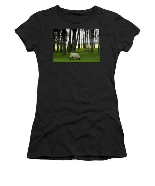Grazing In The Woods Women's T-Shirt (Athletic Fit)