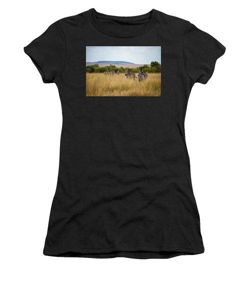 Grazing Zebras Women's T-Shirt (Athletic Fit)