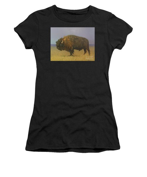 Great American Bison Women's T-Shirt (Athletic Fit)
