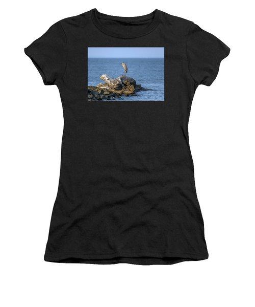 Great Blue Heron On Chesapeake Bay Women's T-Shirt