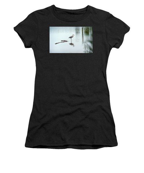 Great Blue Heron On Chesapeake Bay Pond Women's T-Shirt