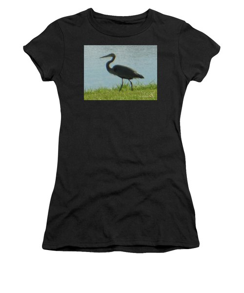 Women's T-Shirt featuring the photograph Great Blue Heron by Rockin Docks Deluxephotos
