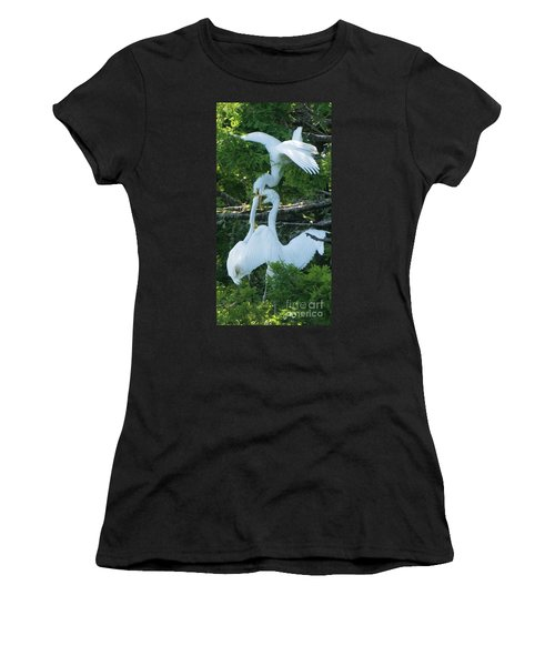 Great Egrets Horsing Around Women's T-Shirt