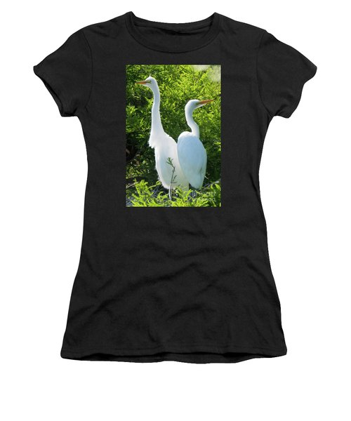 Great Egrets Standing Watch Women's T-Shirt