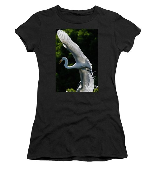 Great Egret's Wingspan Women's T-Shirt
