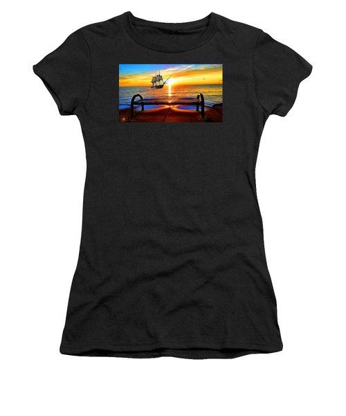 Great Lakes Of Michigan Women's T-Shirt