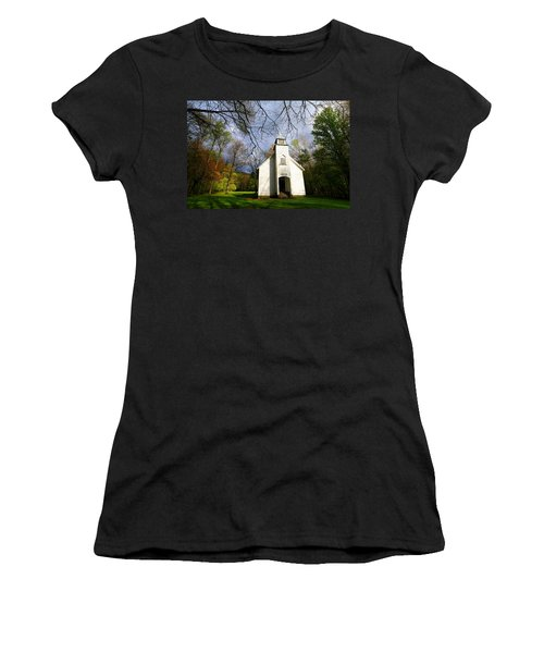Great Smoky Mountains Spring Storms Over Palmer Chapel  Women's T-Shirt