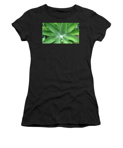 Green Agave Leaves Women's T-Shirt
