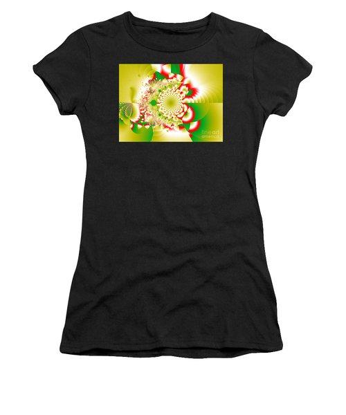 Green And Yellow Collide Women's T-Shirt