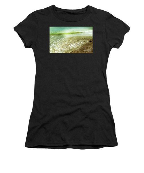 Green And Yellow Waves At Montana De Oro Beach In Spooners Cove Women's T-Shirt (Athletic Fit)