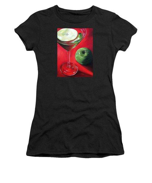 Green Apple Martini Women's T-Shirt (Junior Cut) by Torrie Smiley