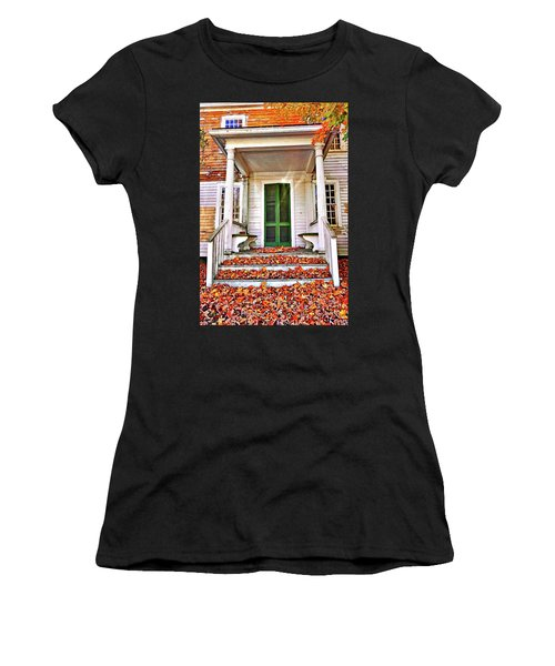Green Autumn Door Women's T-Shirt