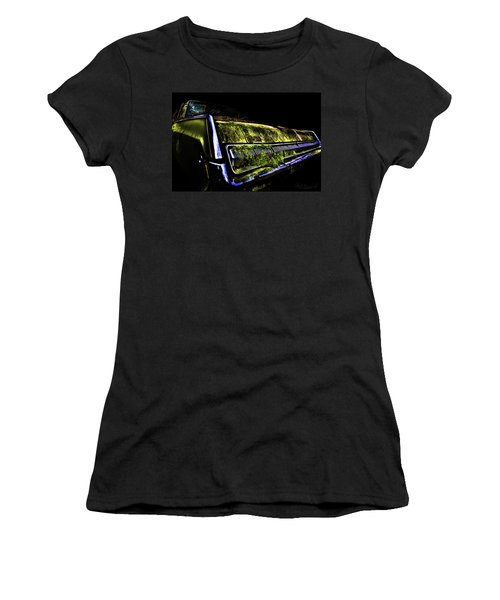Women's T-Shirt featuring the photograph Green Dodge Glory by Glenda Wright