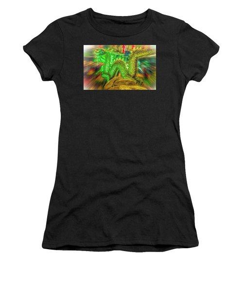 Green Dragon Women's T-Shirt (Athletic Fit)