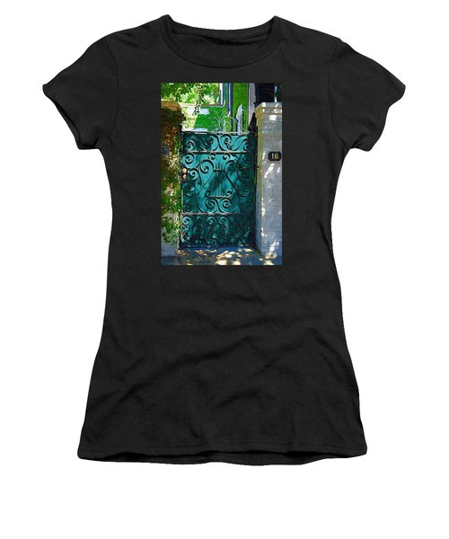 Green Gate Women's T-Shirt (Junior Cut) by Donna Bentley
