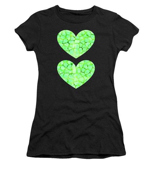 Green Giraffe Print Women's T-Shirt