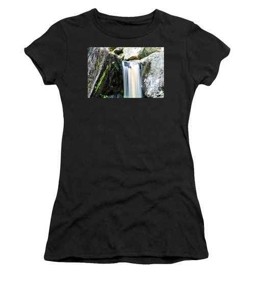 Green Glows On The Falls Women's T-Shirt (Athletic Fit)