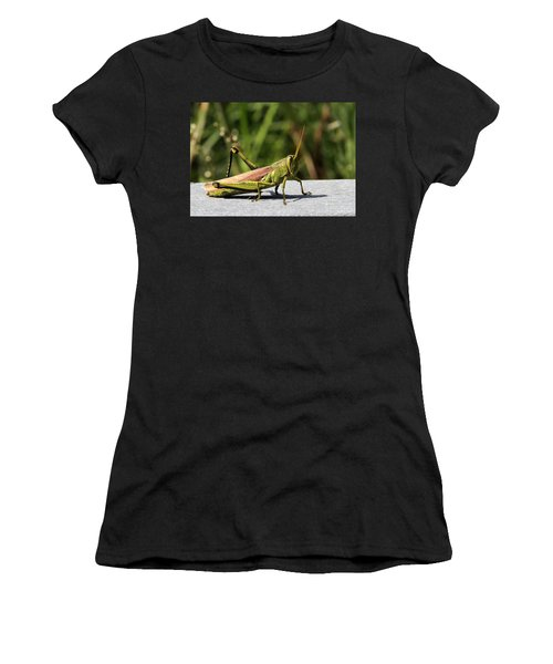 Green Grasshopper Women's T-Shirt (Athletic Fit)