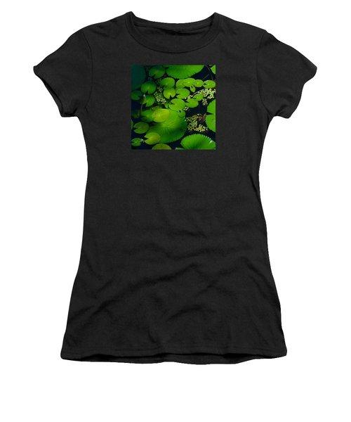 Green Islands Women's T-Shirt (Junior Cut) by Evelyn Tambour