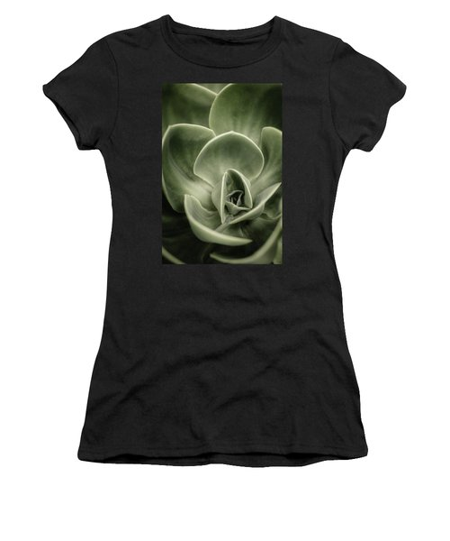Women's T-Shirt (Junior Cut) featuring the photograph Green Leaves Abstract IIi by Marco Oliveira