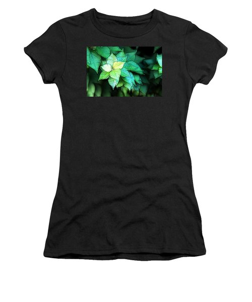Green Leaves Women's T-Shirt (Athletic Fit)