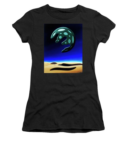 Green Moon Rising Women's T-Shirt (Athletic Fit)