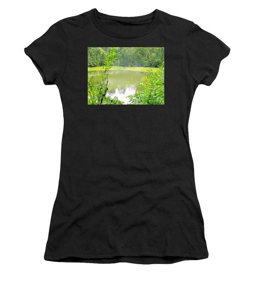 Green On Lake Women's T-Shirt (Athletic Fit)