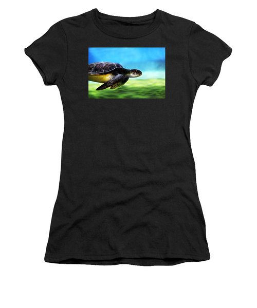 Green Sea Turtle 2 Women's T-Shirt (Athletic Fit)