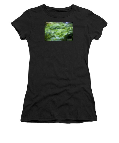 Green Waterfall 1 Women's T-Shirt (Athletic Fit)