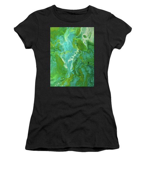 Green Waters Women's T-Shirt (Athletic Fit)