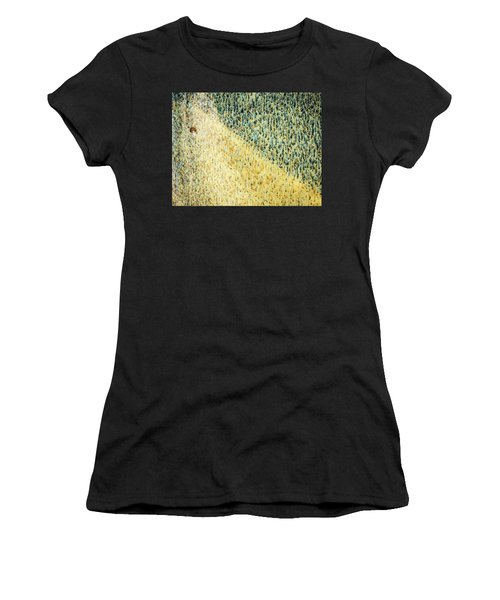 Women's T-Shirt featuring the photograph Green/yellow Abstract Two by David Waldrop