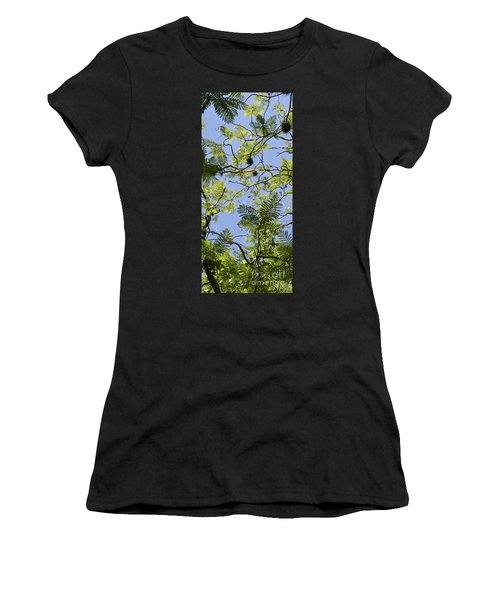 Greenery Left Panel Women's T-Shirt (Athletic Fit)