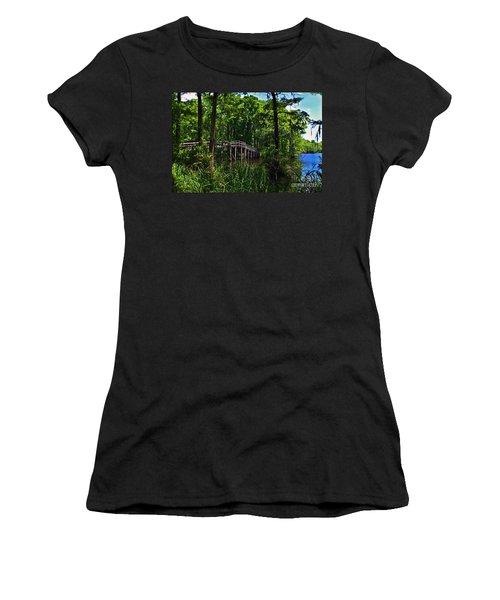 Greenfield Lake Bridge Women's T-Shirt (Athletic Fit)