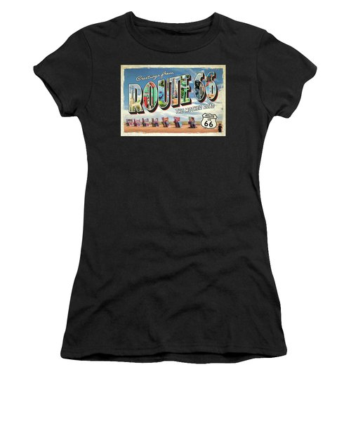 Greetings From Route 66 Women's T-Shirt (Athletic Fit)