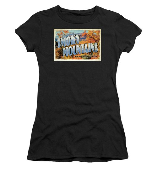 Greetings From Smoky Mountains National Park Women's T-Shirt (Athletic Fit)