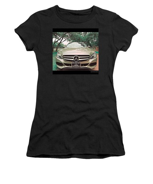 #grey #sky And A #silver Grey #car Women's T-Shirt (Athletic Fit)