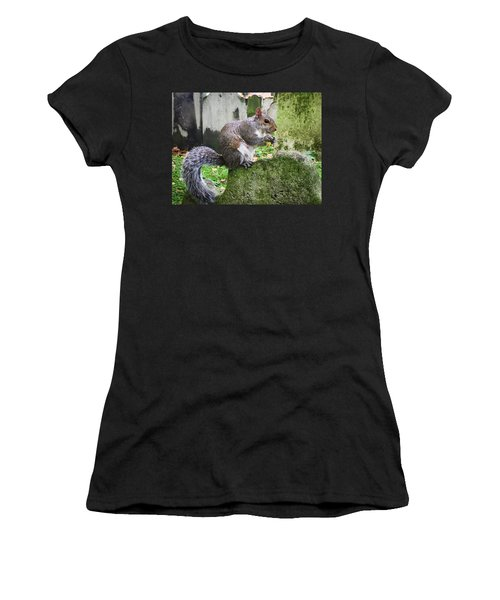 Women's T-Shirt (Athletic Fit) featuring the photograph Grey Squirrel  by Geoff Smith