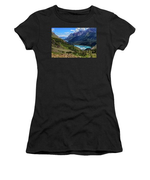 Grinell Hike In Glacier National Park Women's T-Shirt (Athletic Fit)