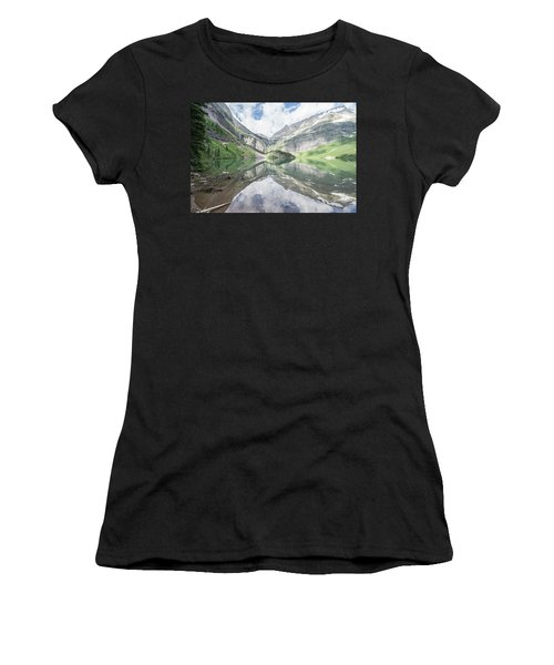 Grinnell Lake Mirrored Women's T-Shirt