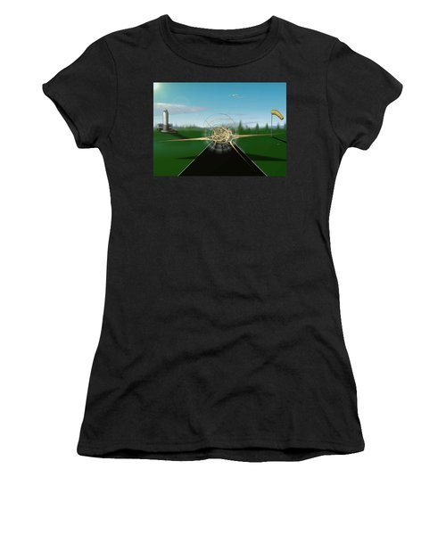 Grounded Women's T-Shirt (Athletic Fit)