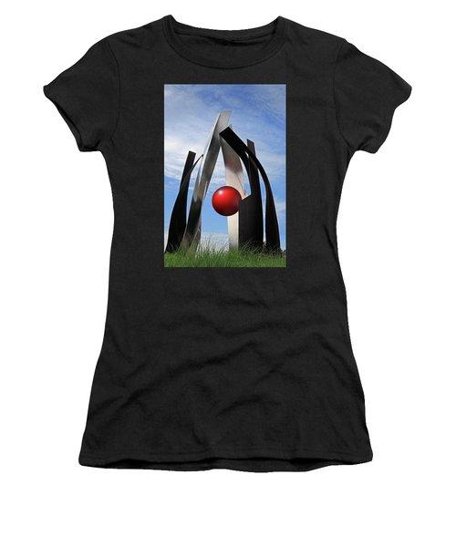 Women's T-Shirt (Junior Cut) featuring the photograph Growing Sculpture by Christopher McKenzie