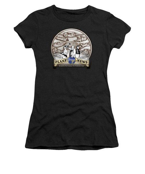 Grumman Plane News Women's T-Shirt (Athletic Fit)