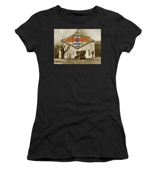 Grumman Wings Women's T-Shirt (Athletic Fit)