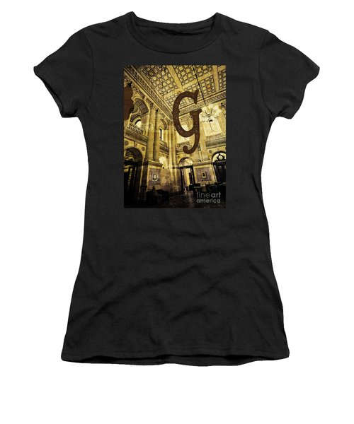 Grungy Melbourne Australia Alphabet Series Letter G Government P Women's T-Shirt