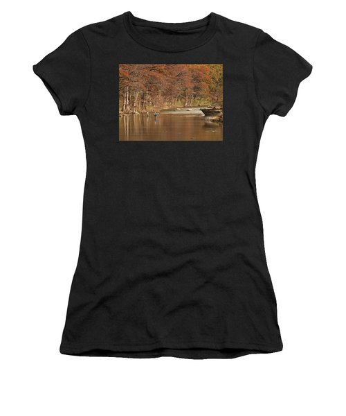 Guadalupe River Fly Fishing Women's T-Shirt