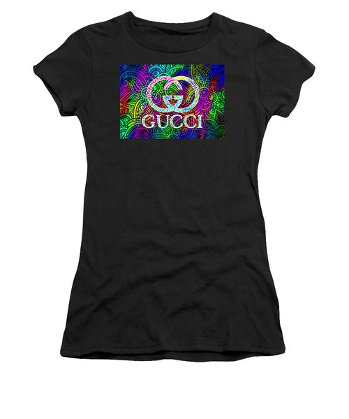 Gucci Multi Color With Pattern Background Women's T-Shirt