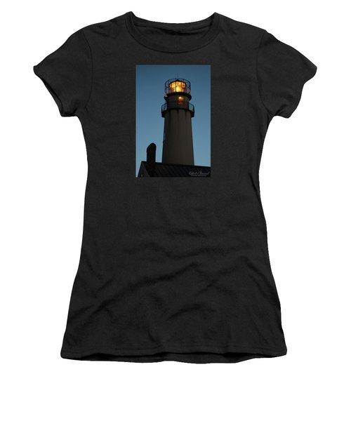 Women's T-Shirt (Junior Cut) featuring the photograph Guiding Mariners by Robert Banach