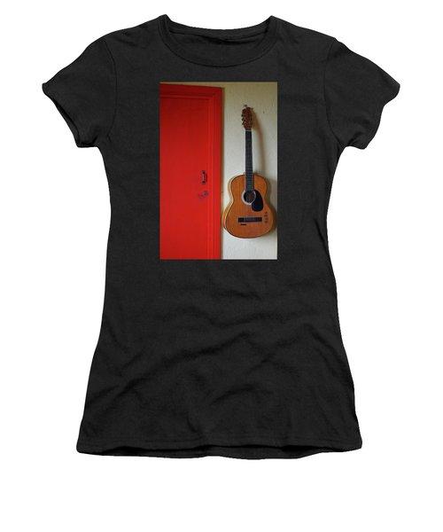 Guitar And Red Door Women's T-Shirt
