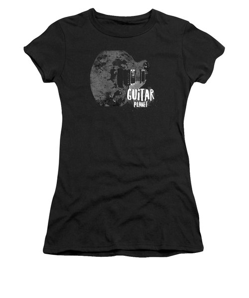 Women's T-Shirt (Athletic Fit) featuring the photograph Guitar Planet  by Guitar Wacky