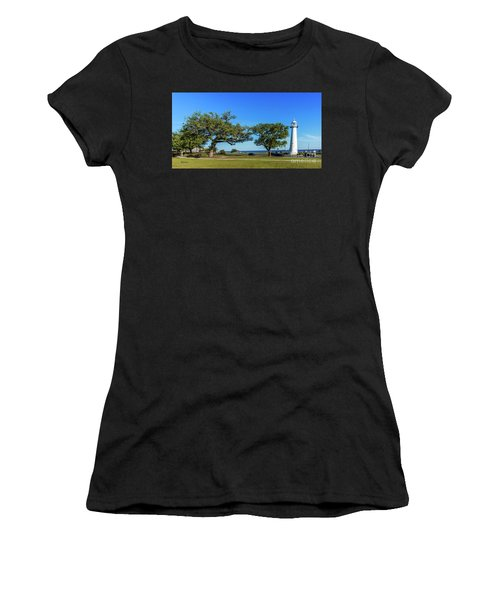 Gulf Coast Lighthouse Seascape Biloxi Ms 3663b Women's T-Shirt